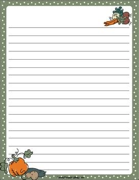 free printable lined decorative paper 6 best images of thanksgiving free printable lined