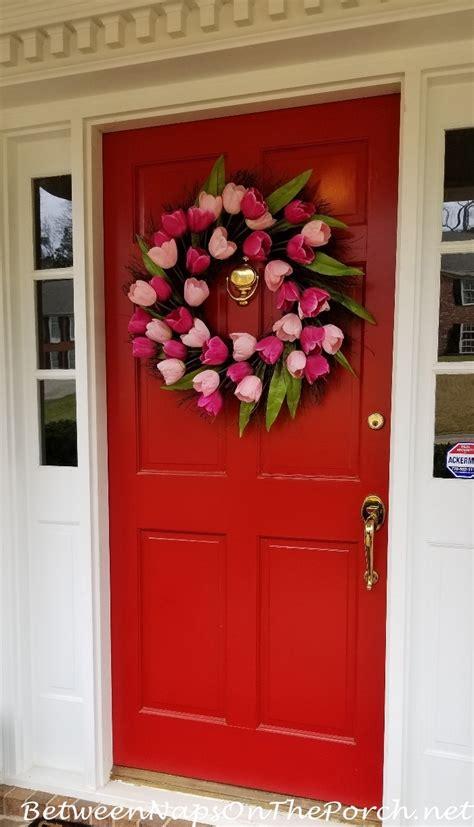 spring wreath   front door