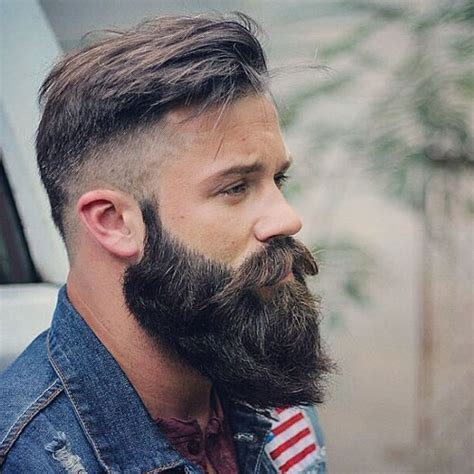 images of long beard short haircut cool short hairstyles and beards for men 2018