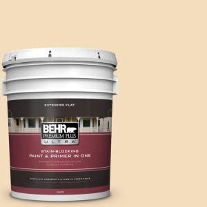 behr premium plus ultra 5 gal yl w1 spinning silk flat exterior paint 485005 the home depot