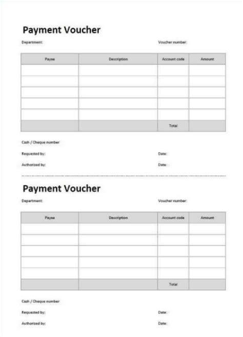 cheque voucher template cheque receipt voucher template