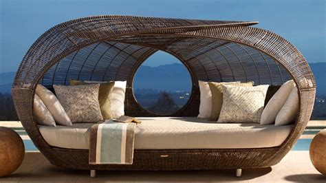 Day Bed By The Pool Make Outdoor Living Comfy With 15 Rattan Daybeds Home