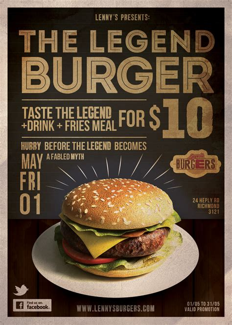design flyer for restaurant flyer design for lenny s burgers graphicdesign food