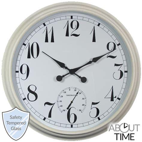 orologi da giardino orologio da giardino di grandi dimensioni bianco 90 cm