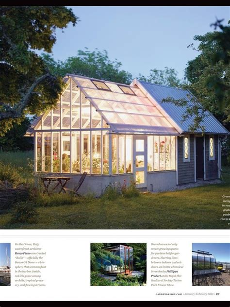 Greenhouse Garden Shed Combo by Greenhouse Backyard Houses