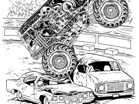 grave digger truck coloring pages get this grave digger truck coloring pages