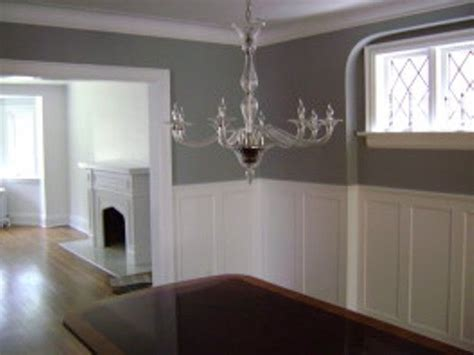 Wainscoting Throughout House Gray Room With Wainscoting Decorating Kitchen Dining