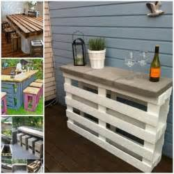 Diy Outdoor Bar Table Diy Pallet Wine Bar The Whoot