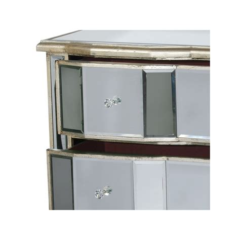 silver mirrored chest of drawers antique silver mirror 3 drawer cabinet chest of drawers