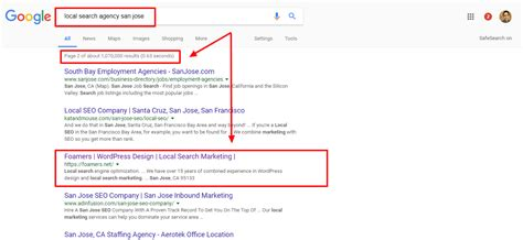 Search Agency Local Search Agency San Jose Foamers Local Search Marketing