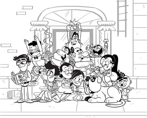 random house coloring pages dazzling design inspiration the loud house coloring pages