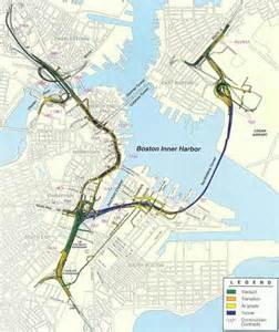 Boston Traffic Map by Map Of The Big Dig Central Artery Tunnel Project