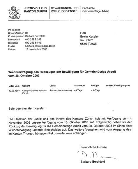 Rekurs Brief Sch 228 Chtprozess Politische Justizwillk 252 R Gef 228 Ngnisvollzug