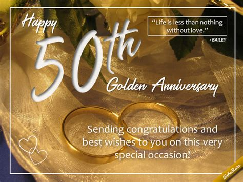 50 yr wedding anniversary for a 50th wedding anniversary free milestones ecards