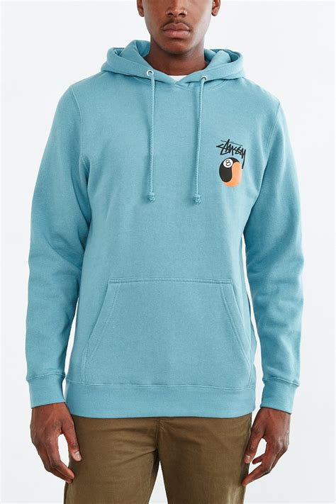 Pullover Hoodie Stussy Harmony Merch stussy yin yang 8 pullover hooded sweatshirt in blue for lyst