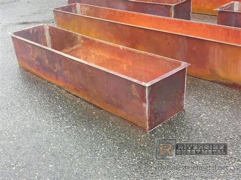 copper flower boxes burnished