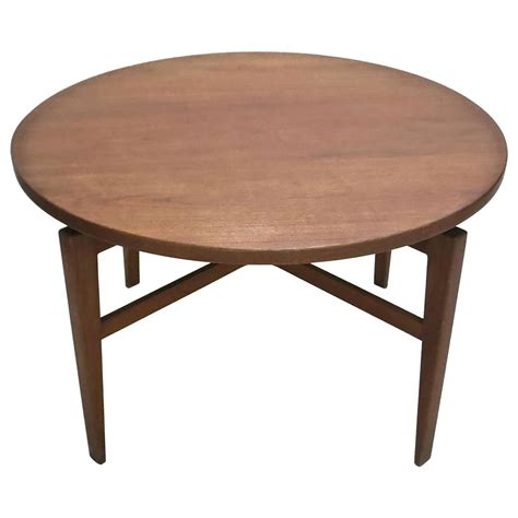 Rotating Dining Table Rotating Table By Jens Risom Circa 1950 Original Manufacturers Label Usa At 1stdibs