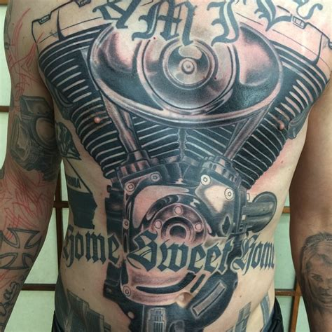 24 harley engine tattoos
