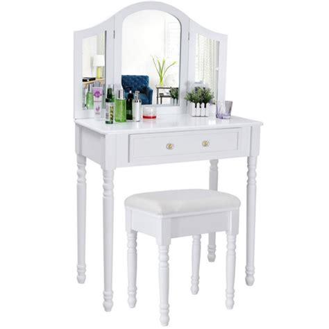 Coiffeuse Avec Miroir Et Tabouret by Coiffeuse Bois Avec Grand Miroir Et Tabouret Table