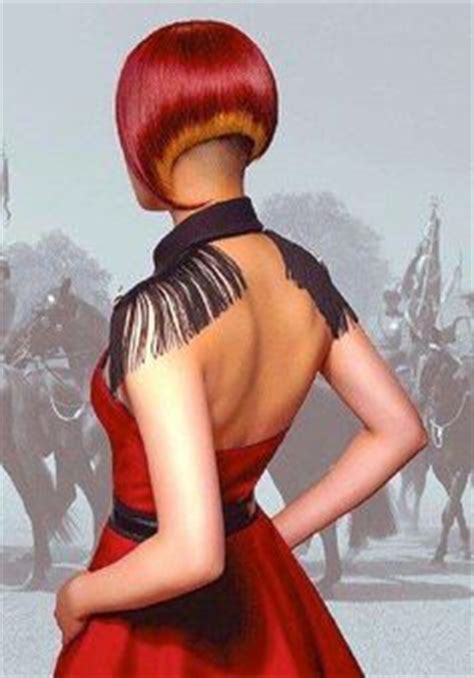 redhair nape shave angled inverted bob with clipper cut nape inverted bob s