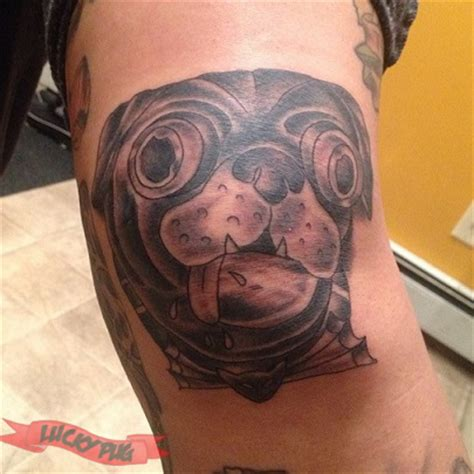 brass city tattoo black grey pug tattoos on legs pug picture