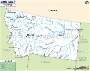 Montana Rivers Map by Pics Photos Montana Rivers Map