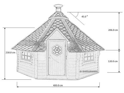 Scandinavian barbecue hut
