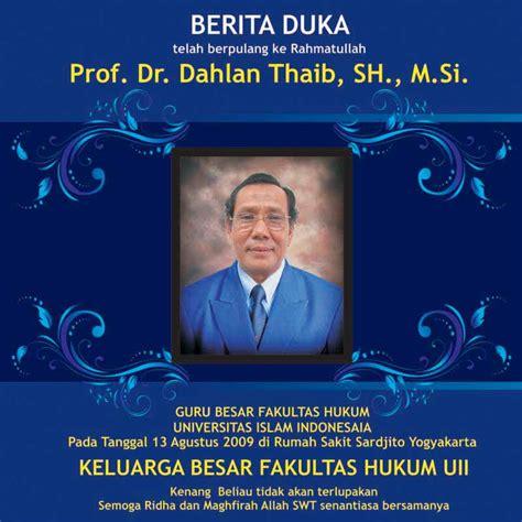 Fakultas Hukum fakultas hukum kehilangan satu orang guru besar terbaik