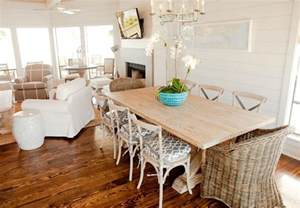 Coastal dining room table and chairs