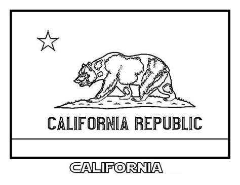 california state colors state flag of california coloring page color