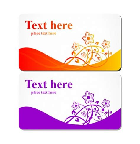 gift card template ai floral business or gift card templates set welovesolo