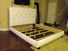 Size Bed Frame And Headboard White Or Size Bed Frame With Button Tufted By