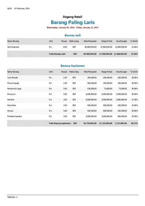 format laporan barang cara mudah mengelola keuangan bisnis software akuntansi