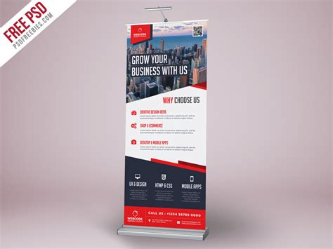 templates for roll up banners corporate advertisement roll up banner psd template