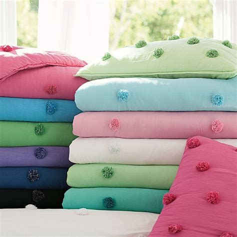 puff quilt comforter crinkle puff quilt sham contemporary kids bedding by pbteen