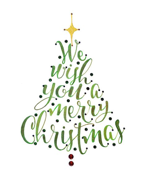 we wish you a merry christmas tree by laura bell