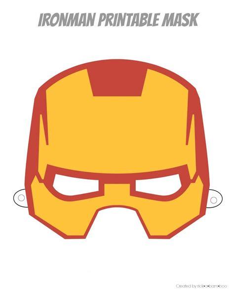 ironman mask template free printable masks iron birthday