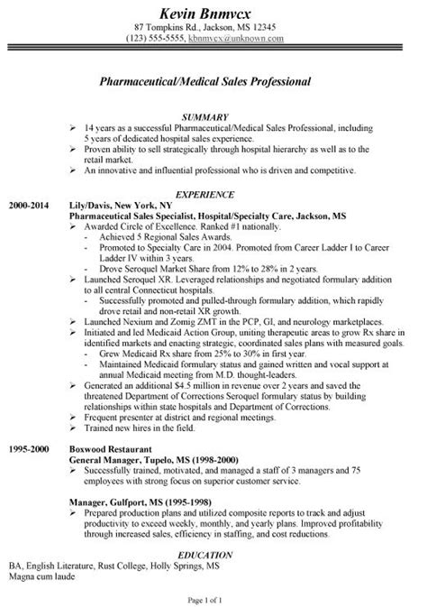 sle of chronological format chronological resume exle for pharmaceutical sales resume sle hides age has