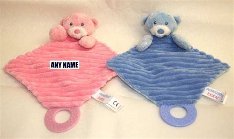 how to comfort a teething baby personalised embroidered baby babies comfort blanket