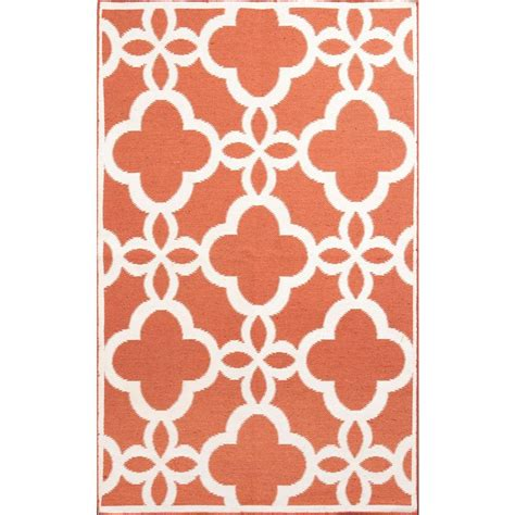 Coral Area Rug Trellis Coral 8 Ft X 10 Ft Indoor Outdoor Area Rug 93140 The Home Depot