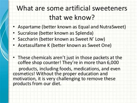 is splenda better than aspartame educating patients on the potential side effects of