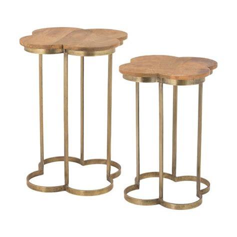 Quatrefoil Side Table Quatrefoil Gold Leaf Accent Table