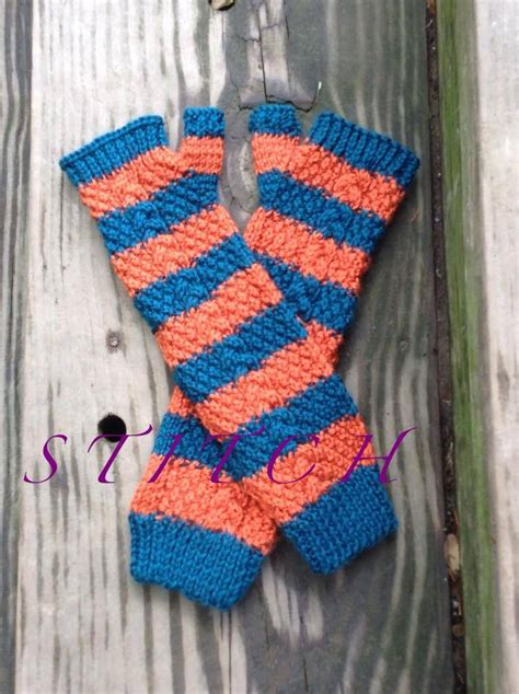 Handmade Fingerless Gloves - handmade knit arm length fingerless gloves made to order