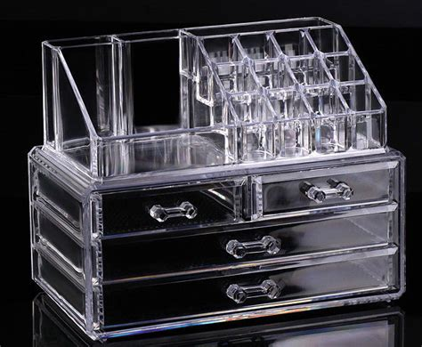 clear makeup organizer with drawers cosmetic organizer makeup drawers display box acrylic