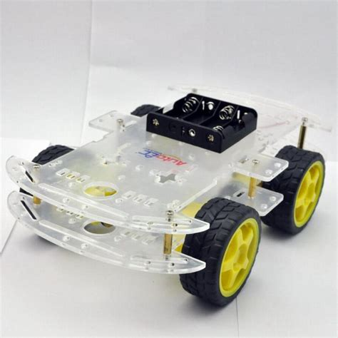 Tobot Car To Robot Robot To Car 16 Cm Merah 4wd smart robot car chassis kits for arduino with speed encoder new for arduino robot rc car