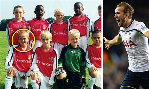Seven Shirt Football Minions Arsenal harry pictured in arsenal kit as seven year