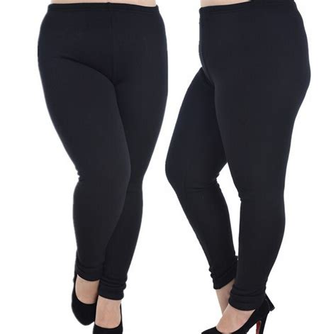 40199 Black Lined Tight Size S aliexpress buy fleece lined plus size for cold winter warm black