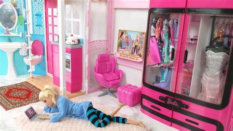 barbie bedroom barbie bedroom house morning routine barbie scooter