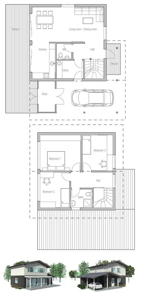 Small House Plans Lots Of Windows Wall Homes Floor Plans Valine