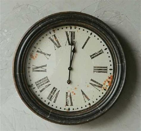 large wall clock with numerals antique farmhouse